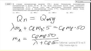 Онлайн уроки по физике  А23 егэ 2014