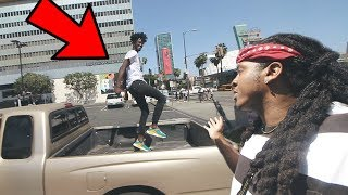 TRYING TO GET KICKED OUT THE DRIVE THRU CHALLENGE !!!! **COPS CALLED**
