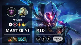 Master Yi Mid vs Akali - KR Master Patch 10.14