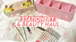 stationery & beauty haul! ???? (aliexpress/diba)