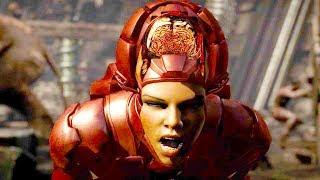Mortal Kombat XL - All Fatalities & X-Rays on Iron Girl Costume Mod 4K Ultra HD Gameplay Mods