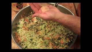 Cole Slaw Cabbage Salad Recipe - Sugar Gluten Free - Carrot Onion Kale Cook Out Tutorial Vegan