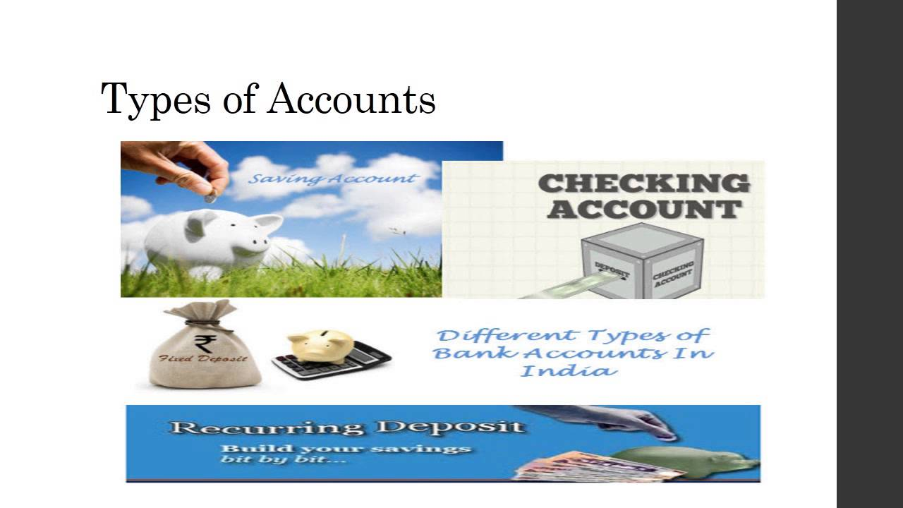 bank accounts and types A bank account is a financial account maintained by a bank for a customer a bank account can be a deposit account, a credit card account, a current account, or any other type of account offered by a financial institution, and represents the funds that a customer has entrusted to the financial institution and from which the customer can make withdrawals.