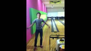 I get a spare Bowling backwards - Awesomeness