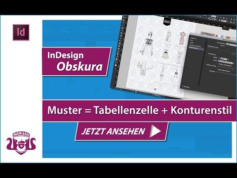 Muster aus Tabellenzelle und Konturenstil erstellen // InDesign OBSKURITÄT