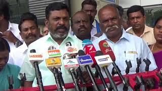 DMK Should  resign  all democratic posts and put  PRESURE on ADMK | Thirumavalavan | nba 24x7