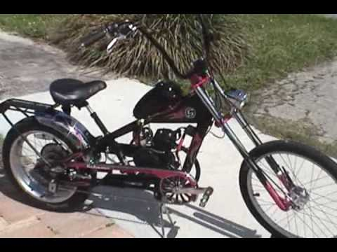 Motorized Schwinn Occ Stingray Chopper Bicycle Youtube