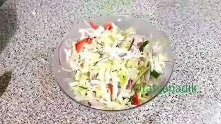Салат с мидиями. ПП-ужин