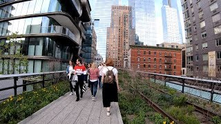 ⁴ᴷ⁶⁰ Walking NYC : The High Line Elevated Park to Hudson Yards in Spring (April 23, 2019)