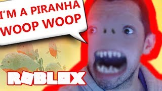 I'M A PIRANHA IN ROBLOX!! AMAZON LIFE! Realism Survival/Role-playing Game Lets Play Family Friendly