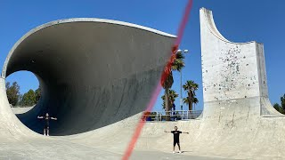 Sneaking into the worlds Biggest Skatepark!