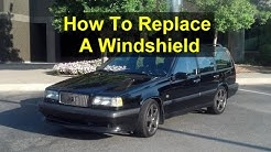 How to replace your front windshield, cracked, rock chips, used glass - VOTD
