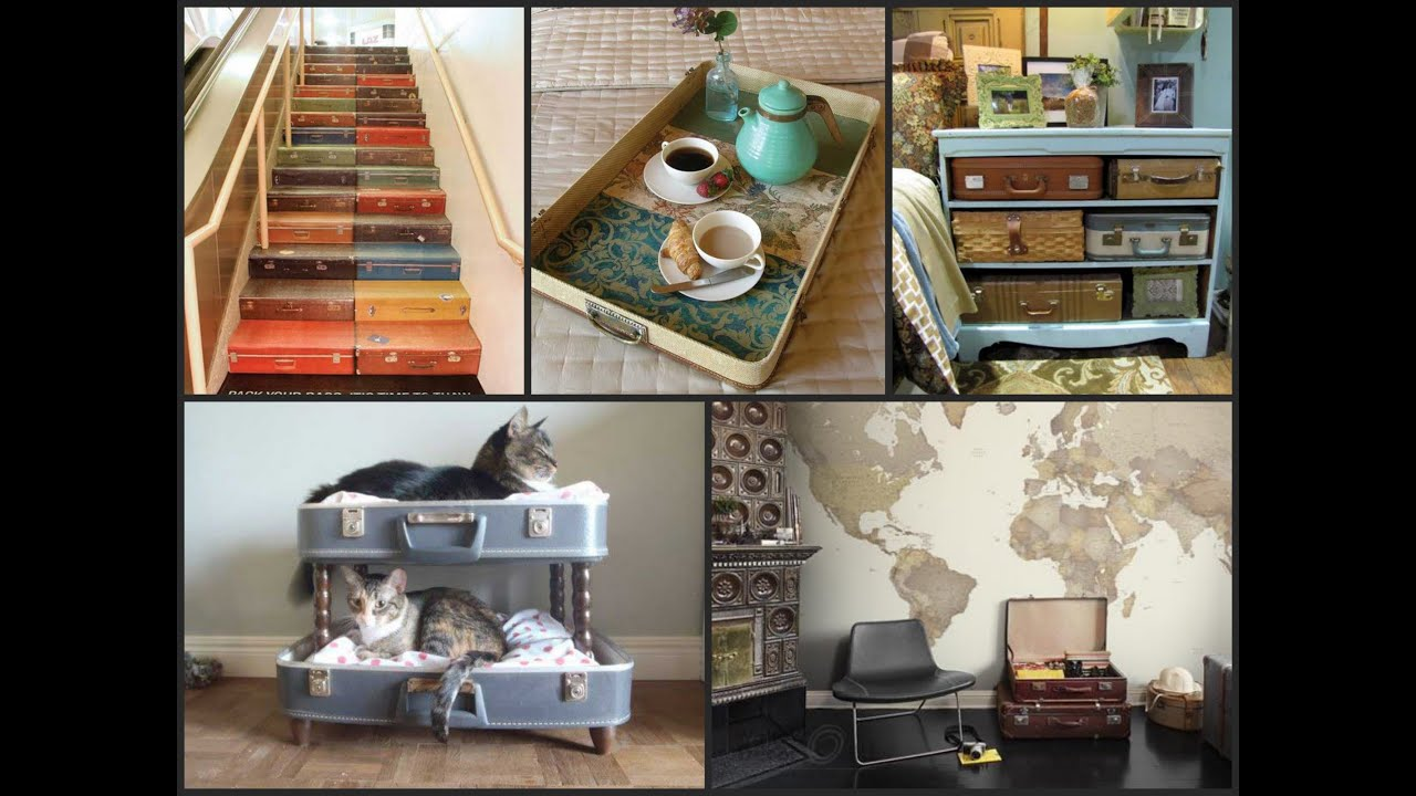 Upcycled Furniture Ideas Repurposed Old Suitcases Youtube