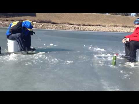 Ice Fishing On The Welland Canal Part 3