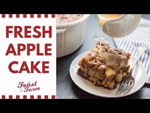 How to Make an Apple Cake with Fresh Apples   Fall Baking Part 1