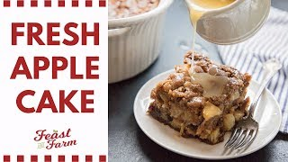 How to Make an Apple Cake with Fresh Apples | Fall Baking Part 1