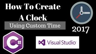 C#: كيفية إنشاء على مدار الساعة مع الوقت المخصص