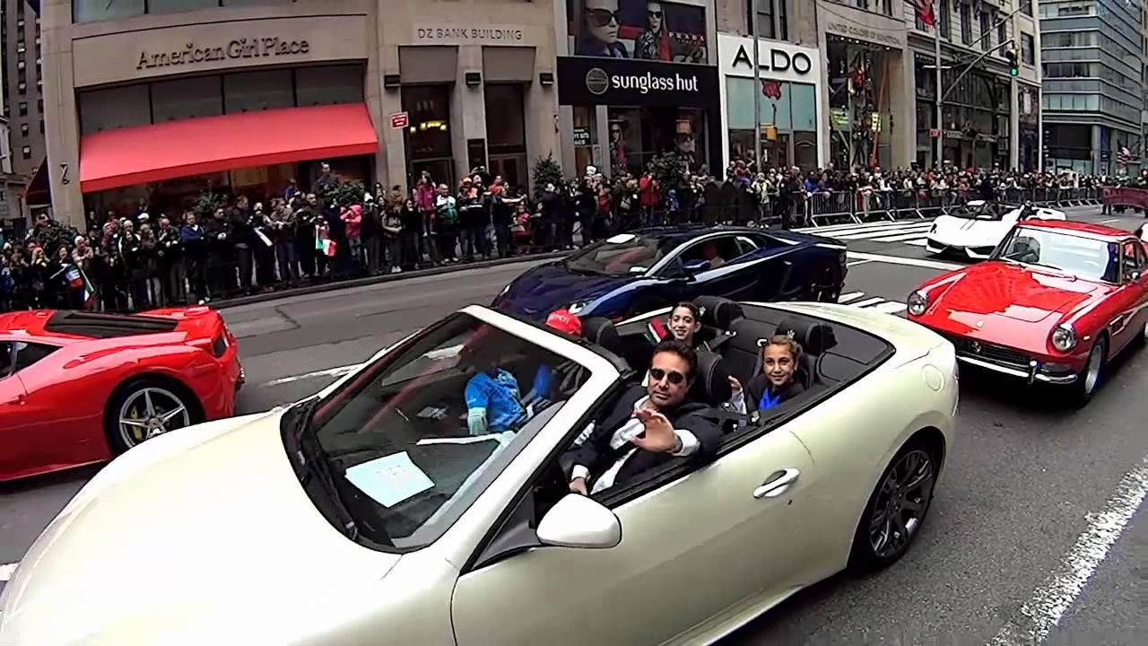 Columbus Day Parade Nyc 2012 Lamborghinis Ferraris Maseratis Youtube