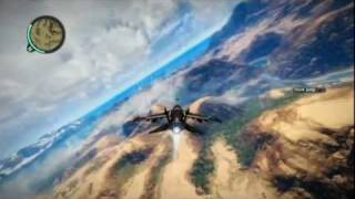 Just Cause 2: F-33 Dragonfly Jet Fighter Takeoff and Landing