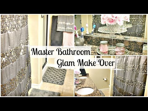 Master Bathroom Makeover | DOLLAR TREE DIY & GLAM Upgrade Tour