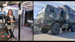 6x6 Military Vehicle Tiny House With Slide Outs + Elevator Bed