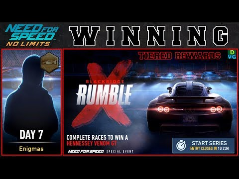 NFS No Limits | Blackridge Rumble - Hennessey Venom GT | Day 7 - WINNING