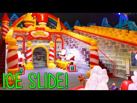 GIANT DISPLAY of ICE!  Walk-through guide to the Gaylord Texan ICE! Display