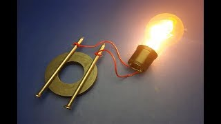 Free Electricity Generator With Speaker And Magnet Real Power Electric Generator Experiment
