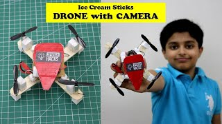 I made a FLYING DRONE - य सचमच उड़त ह!  How to make DIY RC Drone at Home  DJI Inspired Drone