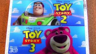 Toy Story 3D Trilogy blu-ray unboxing review boxed set 3-disc NO 2D included