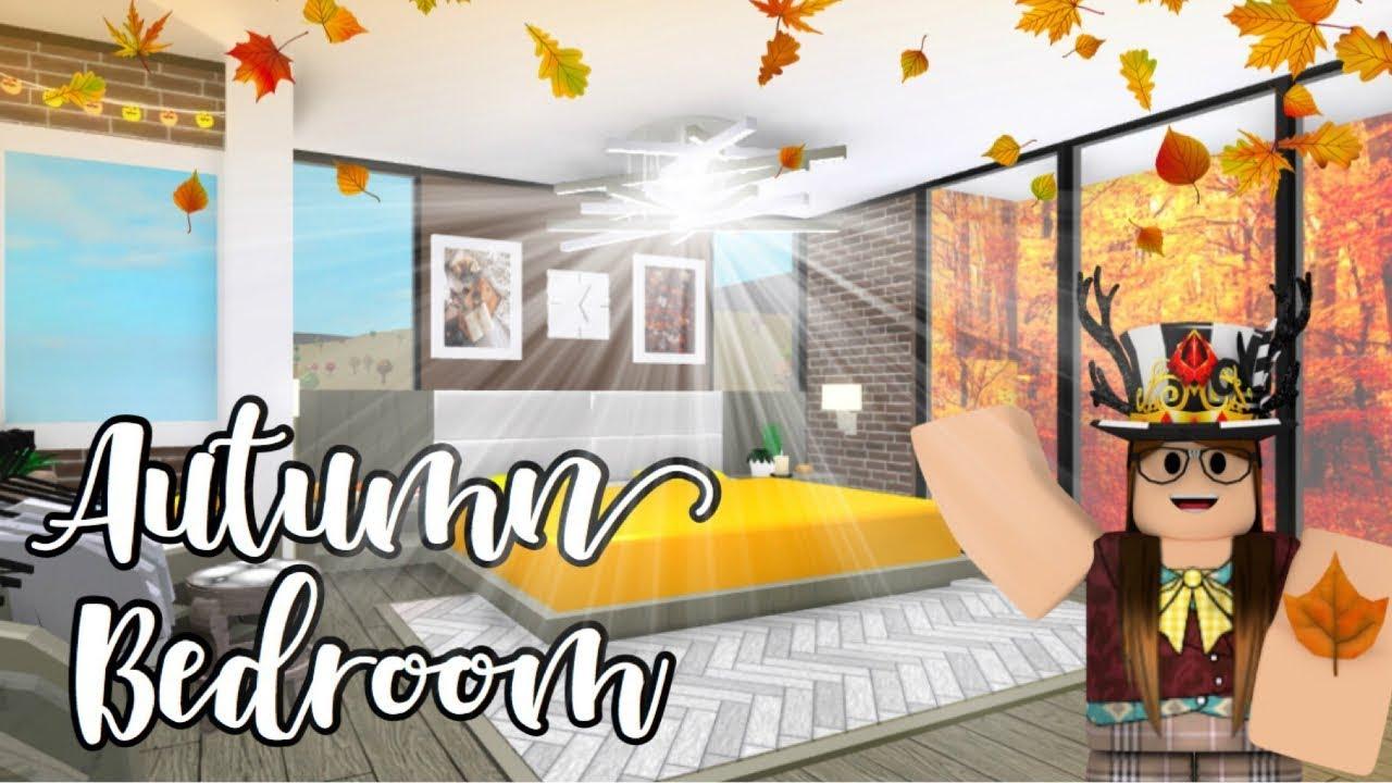 Bloxburg l🍁Autumn Bedroom & Bathroom 31k🍁l Roblox - YouTube
