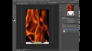 уроки фотошопа эффект огня в стакане/lessons photoshop effect fire in a glass