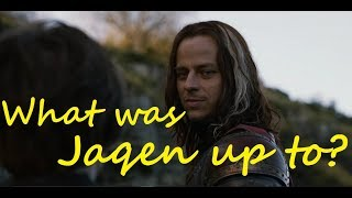Why was Jaqen in Kings Landing? (Game of Thrones, ASOIAF)