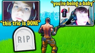 FaZe MONGRAAL TRIO *BREAK UP* after HUGE FIGHT! (Fortnite)