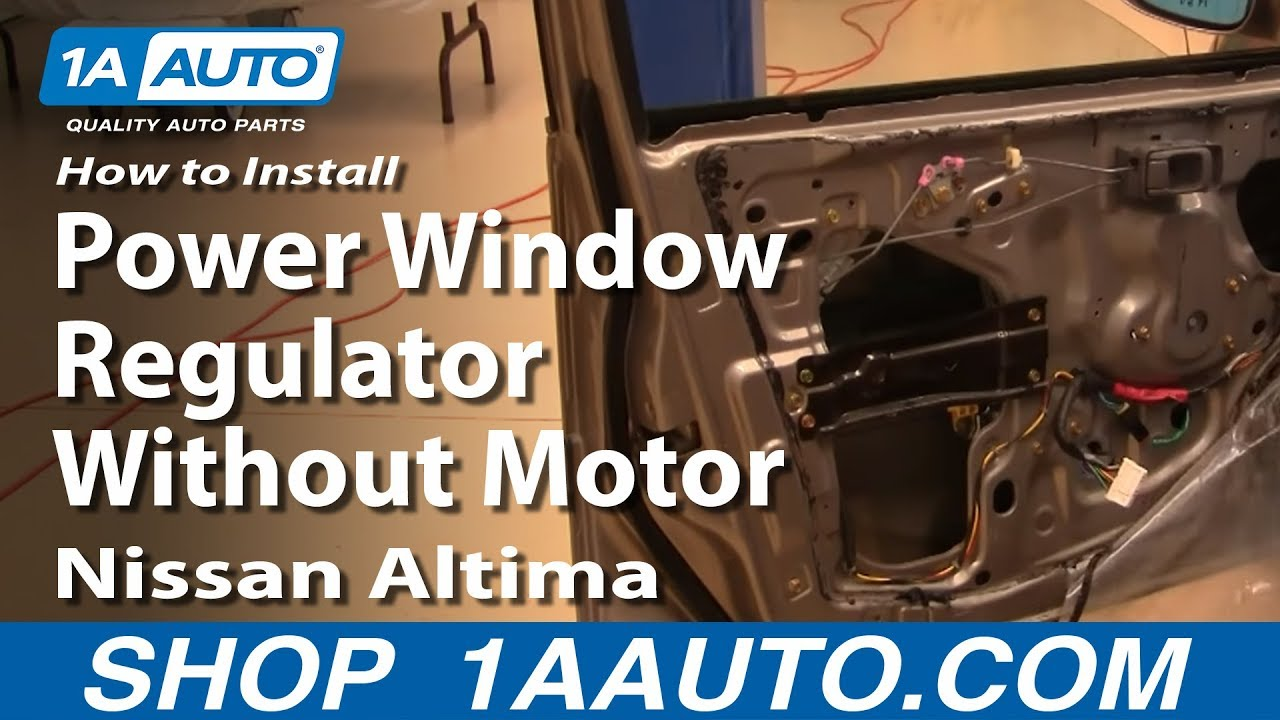 How to install replace power window regulator without for Nissan versa window motor replacement