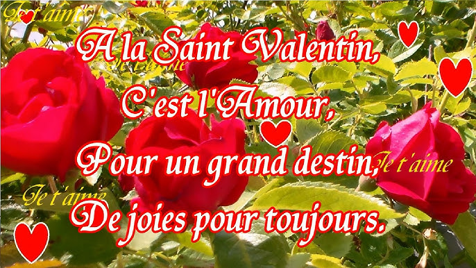 Saint Valentin Poèmes Et Attentions Damour Youtube