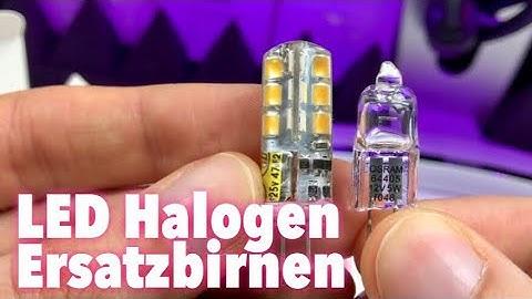 2,5 Watt LED Lampen als Ersatz für alte 20 Watt Halogen Lampen im Test Review