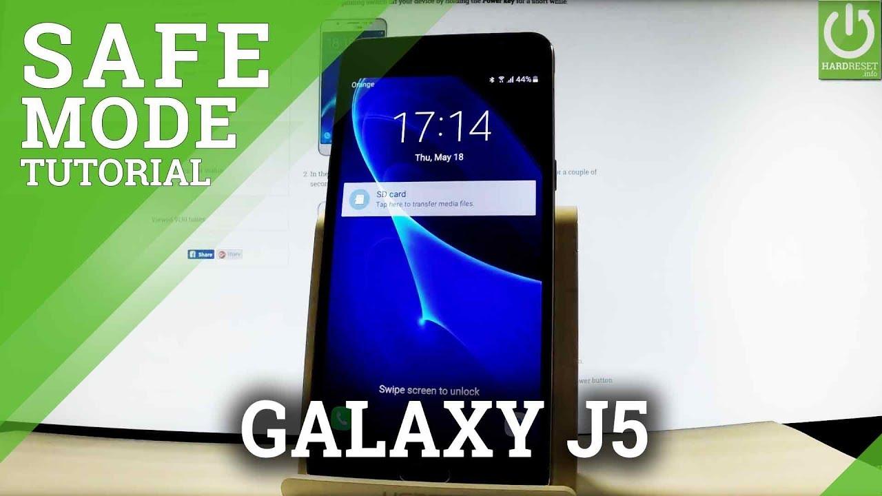 Safe Mode SAMSUNG Galaxy J5 (2016) - Enter / Quit Safe Mode