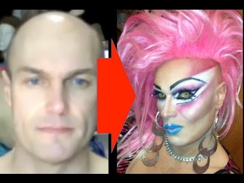 Male to female drag queen transformation inspired by jem the male to female drag queen transformation inspired by jem the holograms dj chi chi larue ccuart Images