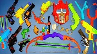 Коробка игрушек! Игрушечные пушки Военные игрушки Детские игрушки ВИДЕО ДЛЯ ДЕТЕЙ GUNS BOX Toys