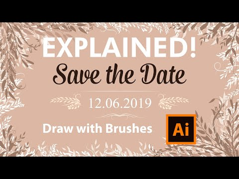 How to Design a Save the Date Card with Brushes - Adobe Illustrator Tutorial