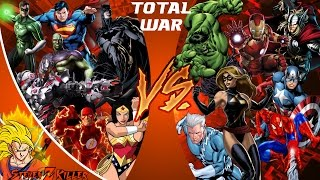 JUSTICE LEAGUE, AVENGERS vs! TOTAL WAR! (DC vs Marvel) Comic-Fight Club-Folge 130 REAKTION!!!