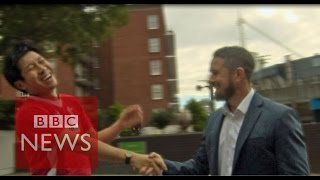 Moment Japanese rugby fan met his sporting hero Shane Williams - BBC News