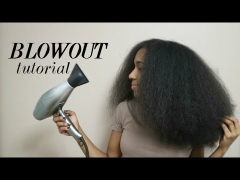 Blowout on Natural Hair (thick 3c, 4a)