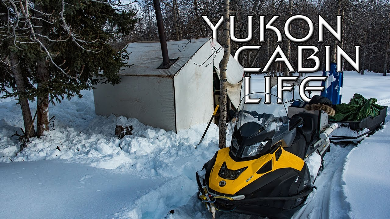 Yukon Mountains Snowmobile - Cabin Life - E.4 - Exploring the Trails and Breakfast in the Hot Tent