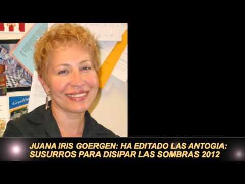 Al Ritmo Del Arte  Juana Iris Goergen.  Escritora, Catedrática y Poeta.  Con Carmina  y Juanjo!
