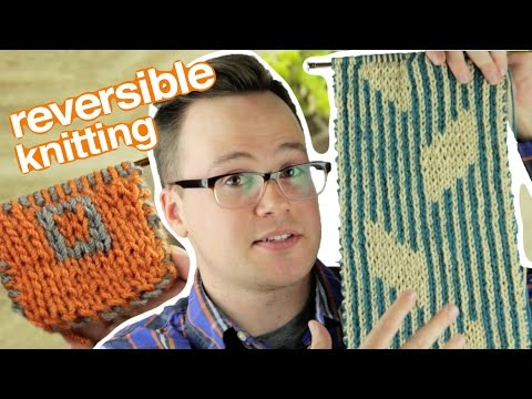 Double Knitting How To Knit A Reversible Scarf Youtube