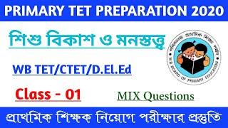 Primary Tet Question /WBP Tet 2019 /Child studies /Child Development Questions  /D.El.Ed  /D.Ed
