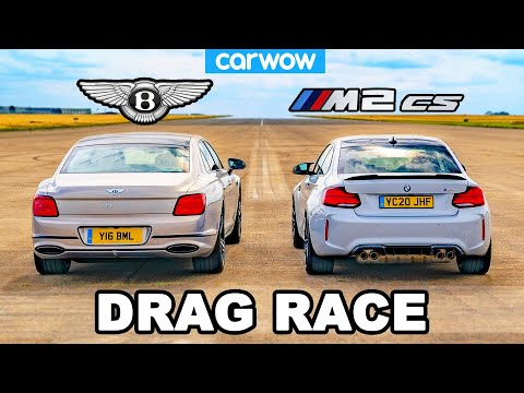 BMW M2 CS vs Bentley Flying Spur – DRAG RACE *Surprise result*