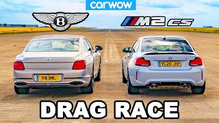 BMW M2 CS vs Bentley Flying Spur - DRAG RACE *Surprise result*